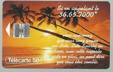 Télécarte carte téléphonique Loto Française des jeux palmier Tahiti