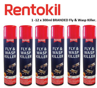 Rentokil Fly & Wasp Insect Moth Killer Spray 300ml,Home Insecticide,Indoor Use