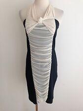ASOS Halter Dress Black w/ Off-White Size 8