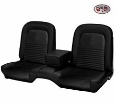 1967 Convertible Mustang Bench Seat Upholstery Front/Rear - Black - IN STOCK!!