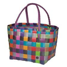 HANDED BY Shopper Paris Multi-Mix Tasche Korb geflochten Kunststoff Bag Neu bunt