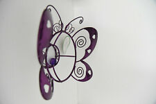 Russco lll GD126481 Purple Plated Wire/Metal Metal Gazing Ball Stand, Butterfly