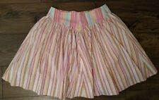 Byron Lars Beauty Mark Colorful Striped Tulle Flare Skirt size: 6