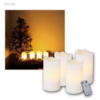 4er Set LED Kerzen weiß flammenlos, Advents-Kerze, Adentskerzen zB. Adventskranz