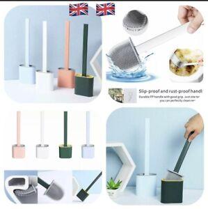 Silicone Bathroom Brush & Cleaning Brush Holder Wall-Mounted Brush Set UK SELLER