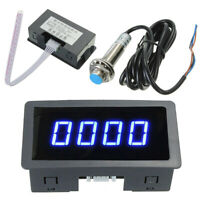 -US 4Digital LED Tachometer RPM Speed Meter&Hall Proximity Switch Sensor NPN
