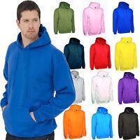 Mens Hoodie Size XS to 4XL Plain Hooded Sweatshirt Premium Sports / Casual