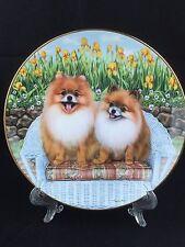 "Danbury Mint limited edition numbered plate ""Backyard Pom"" Barbara Higgins Bond"