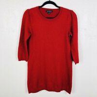 Banana Republic Size Medium Sparkle Dress Red Wool Cashmere Italian Yarn