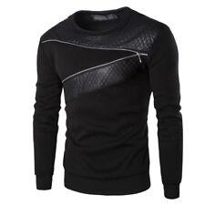 Herren Slim Fit Lange Ärmel Rundhalsausschnitt Tops Pullover T-shirt  Sweetshirt