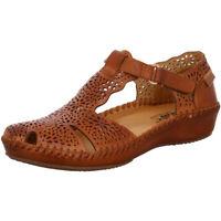 Pikolinos Damen Schuhe Slipper Sandale Sandalette 655-1574 brandy braun Leder