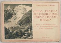 GUIDA PRATICA TOURING CLUB ITALIANO PIEMONTE LOMBARDIA STAZIONI ALPINE MONTAGNA