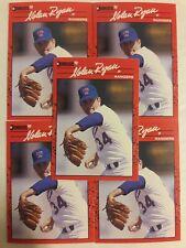 1990 DONRUSS #166 TEXAS RANGERS NOLAN RYAN 5 CARD LOT NM/MT 01792