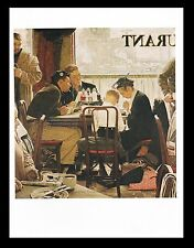 """NORMAN ROCKWELL print: """"SAYING GRACE"""" 11"""" x 15"""" Christian Religion Religious"""