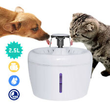 LED Automatic Pet Water Fountain Dog Cat Electric Drink Dispenser Bowl & Filters