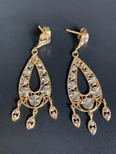 Vintage Estate Fresh 14k Solid Yellow Gold Vintage Dangle Earrings!! NR