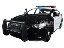 2013 FORD POLICE INTERCEPTOR CAR UNMARKED BLACK/WHITE 1:24 MOTORMAX 76925