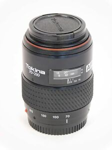 Tokina AF SD 70-210mm 4-5.6 Camera Lens with Lens Caps Untested VGC