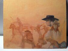 "OIL PAINTING Illustration ""THE DEVIL'S SADDLE""SIGNED BY STUART KAUFMAN 1926-2008"