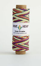 Hemp Cord Variegated RAINBOW Color 10lb 0.5mm 310feet/95m 50gram Spool