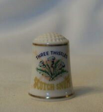 Franklin Mint Country Store Advertising Thimble 1980 – Three Thistles Scotch Snu