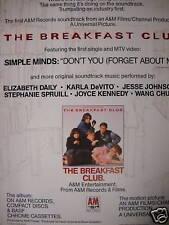 BREAKFAST CLUB Music Promo Ad SIMPLE MINDS DeVito etc
