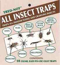10 pk  ALL INSECT  STICKY TRAPS .  Sticky glue strips catch all bugs in the home