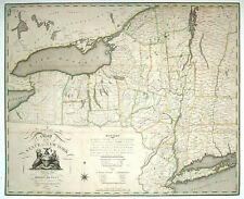 1804 NY MAP Buffalo Long Island Bronx Southampton New York History ITS  HUGE