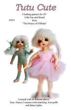 "Lf001 TuTu Cute pattern 4 10"" Little Fee and simila rsize dolls, bjd, Kaye Wiggs"