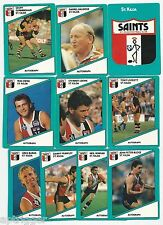 1988 Scanlens ST. KILDA Team Set