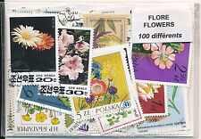 ZBS - FLORE : 100 TIMBRES DIFF. OBLI. Ts PAYS