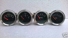 "2"" /52mm Elec Gauge- Volt, Temp Celsius, Oil Press Bar, Fuel Gauge -Black Chrome"