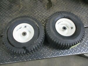 CRAFTSMAN LTX1000   PAIR SET FRONT   WHEELS AND TIRES  15X6.00-6
