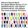 Replacement Silicone Sport Band Strap For Apple Watch Series4 3 2 1 38/42 40/44