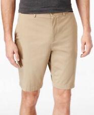 Michael Kors Mens Tailored Flat Front Shorts Khaki Size 34 $75