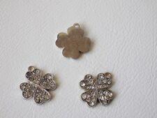 3 x Diamante Pendant: BNDiam36 - 4 LEAF CLOVER 19.75mm x 17.35mm