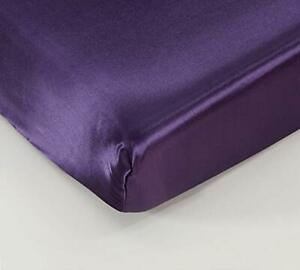 """EHP Super Soft & Silky Satin Crib Fitted Sheet 28"""" X 52"""" + 9"""", Solid/Deep Pocket"""