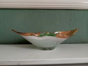 Decorative Glass Bowl with Folded Sides