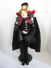 "DEPT 56~A CHRISTMAS CAROL COLLECTORS SERIES 20"" BOB CRATCHIT TINY TIM DOLL~NWT"