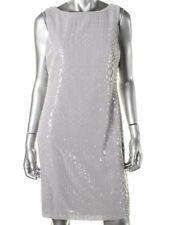 NEW Womens Stunning Lauren Ralph Lauren Grey Sequinned Party Cocktail Dress AU18