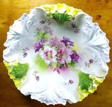 Antique Royal Bayreuth Floral Sculptured Bowl China Collectible Porcelain