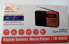 RED ONLY JDC Mini Digital FM Radio Speaker SD Card with Rechargeable Battery