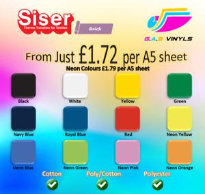 A5 sheets-Siser Easyweed Brick 1000 PREMIUM  HTV Vinyl UK IRON ON