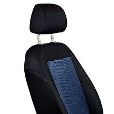 Schwarz-blaue Velours Sitzbezüge für VOLKSWAGEN GOLF Autositzbezug Komplett