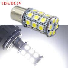 2pcs 27 LED 6V Xenon White Car Bulb 1156 ba15s Turn Signal Light AC/DC P21W 382