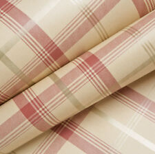Red Beige Gold Tartan Wallpaper Plaid Chequered Classic Cambridge Fine Decor