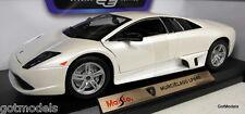 Maisto 1/18 SCALA 46629 LAMBORGHINI MURCIELAGO lp640 Bianco Modello Diecast Auto