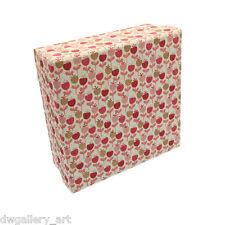 BEL regalo/Storage Box con Rosa Ciliegia Patterns. dimensioni: 16.5x16.5x6.5cm. GBS89