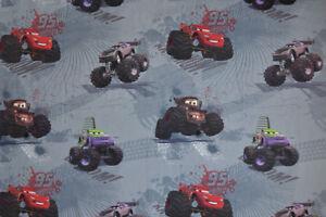 Disney Pixar Cars Fabric - Monster Trucks, Children's, 100% Cotton, Curtains