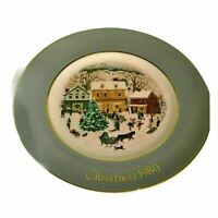 Enoch Wedgwood England Country Christmas Vintage Christmas Plate 1980 Porcelain